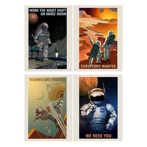 NASA Job Advert Poster 8 Pack
