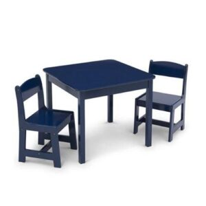Deep Blue Children Wood Table and Chair Set