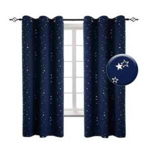 Navy Star Blackout Curtains