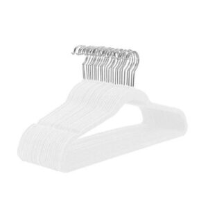 White Velvet Hangers (Pack of 50)