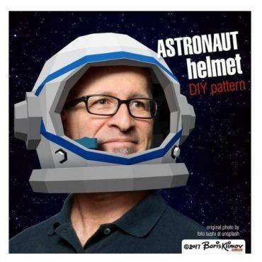 Astronaut DIY 3D Paper Helmet