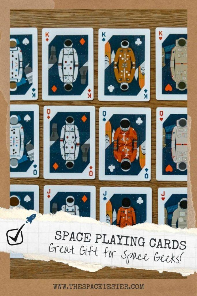 AWESOME Space Playing Cards [History of Travel] Every Space Geek Should Get!    The Space Tester